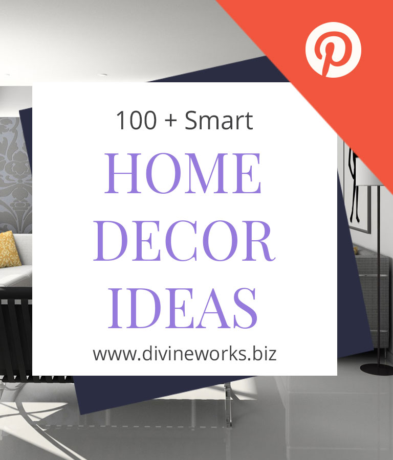 Free Home Decor Pinterest Post Template by Divine Works