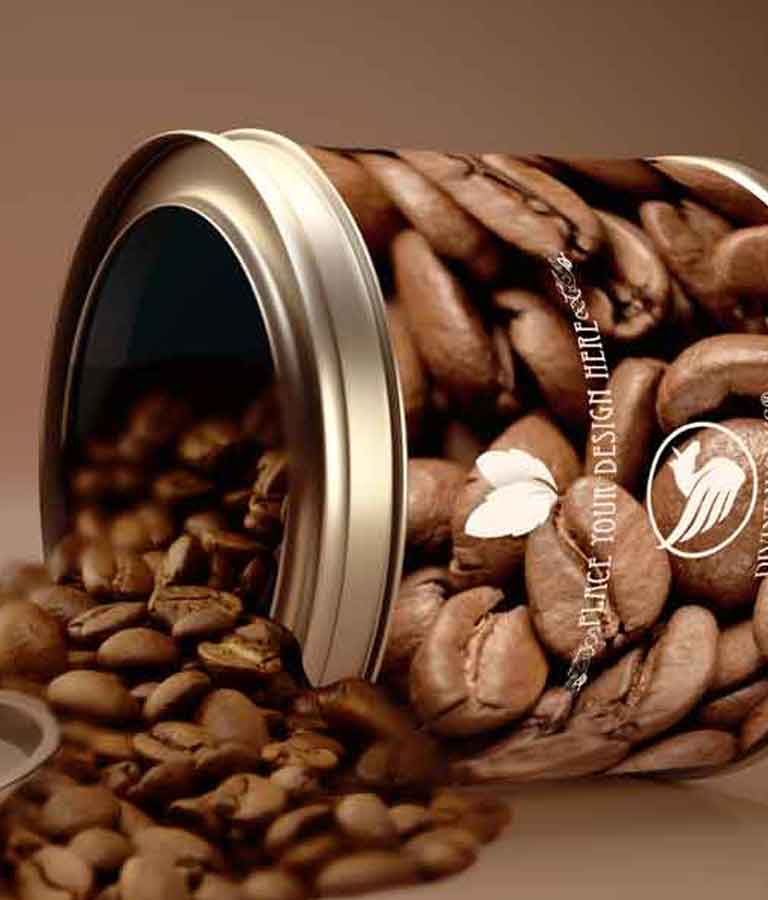 Coffee Beans Container Mockup
