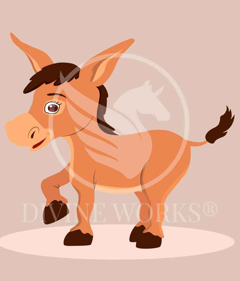 Free Donkey Cartoon Vector Illustration