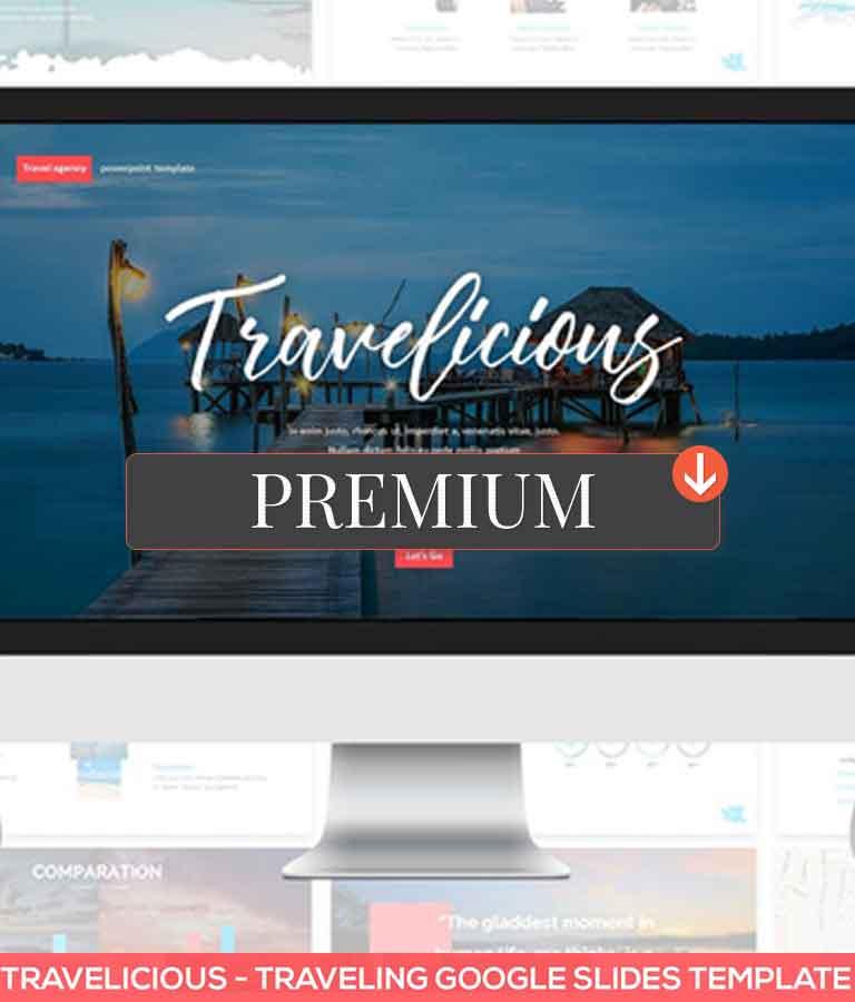 Travelicious Google Slides Template