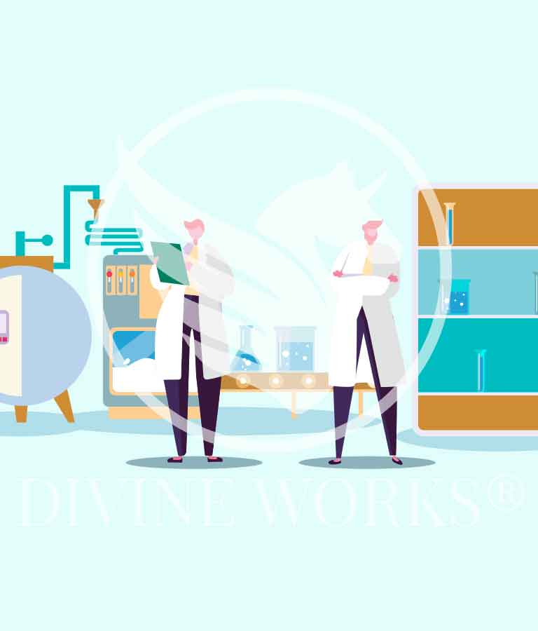 Free Adobe Illustrator Scientist Laboratory Vector Illustration