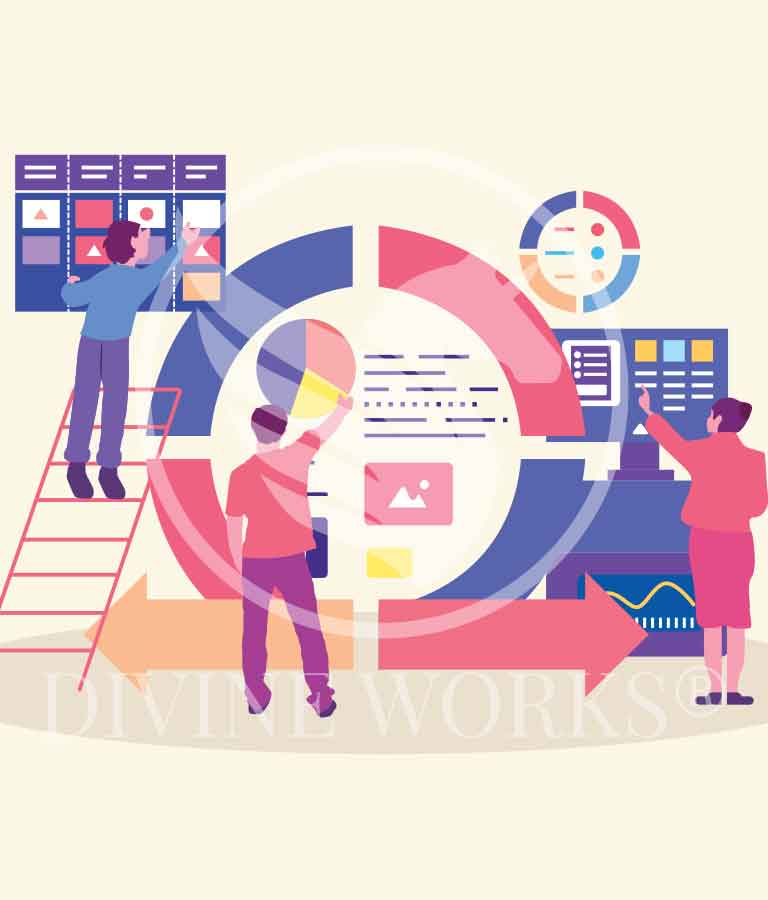 Free Adobe Illustrator Project Management Vector Illustration by Divine Works