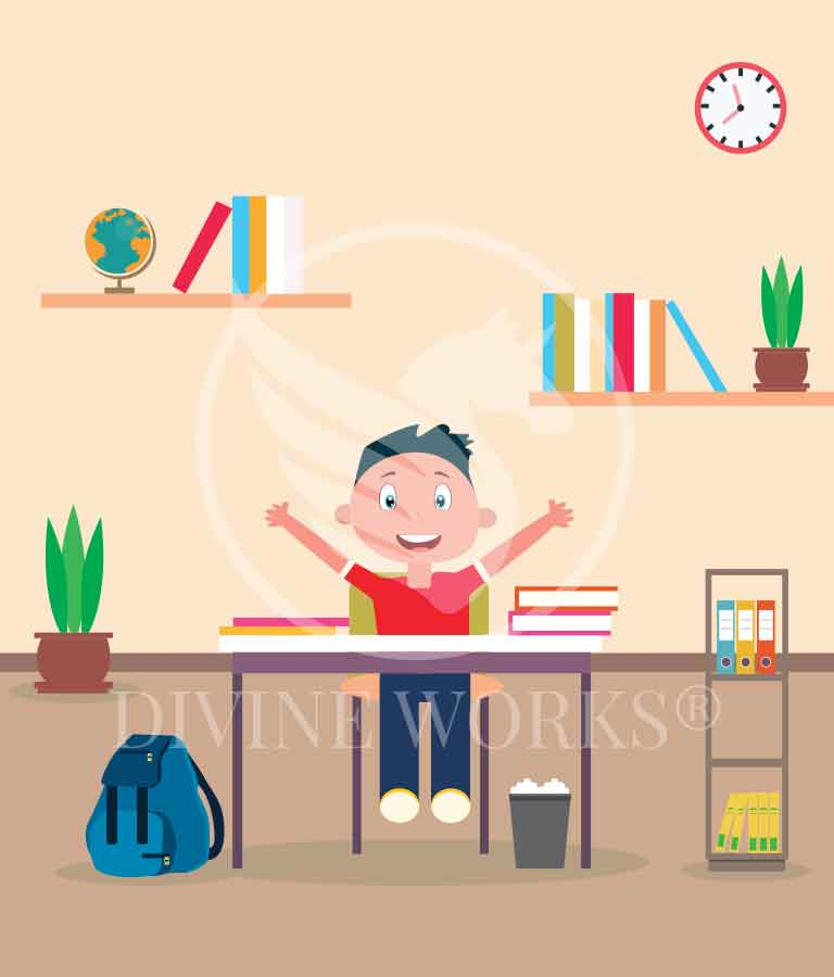 Free Adobe Illustrator Study Kid Character Vector Illustration by Divine Works