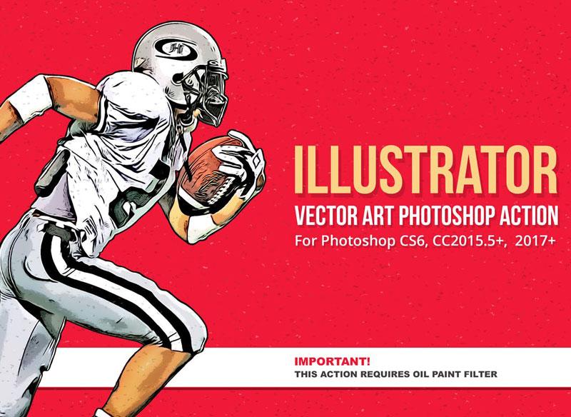 Illustrator Vector Art Photoshop Action