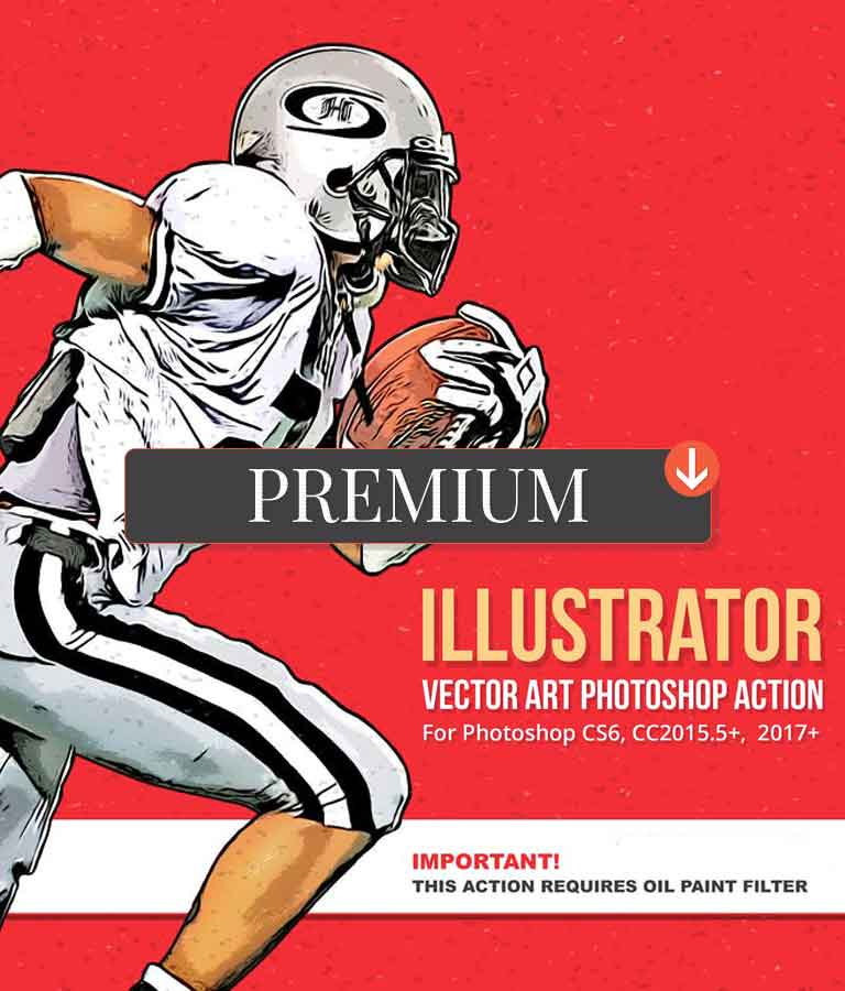 Illustrator Vector Art Photoshop Action