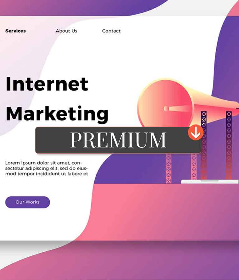 Internet Marketing Banner & Landing Page