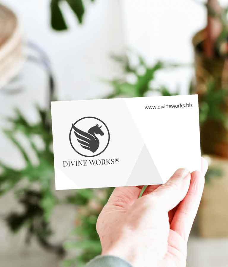 Free Single Business Card In Hand Mockup