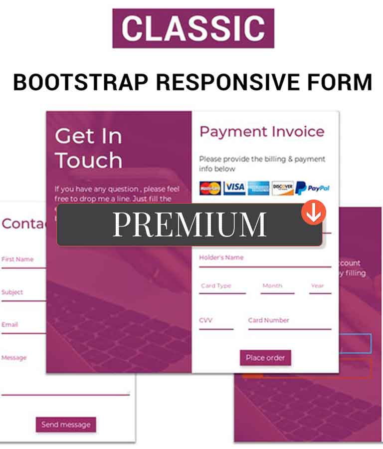 Classic Bootstrap Responsive Form