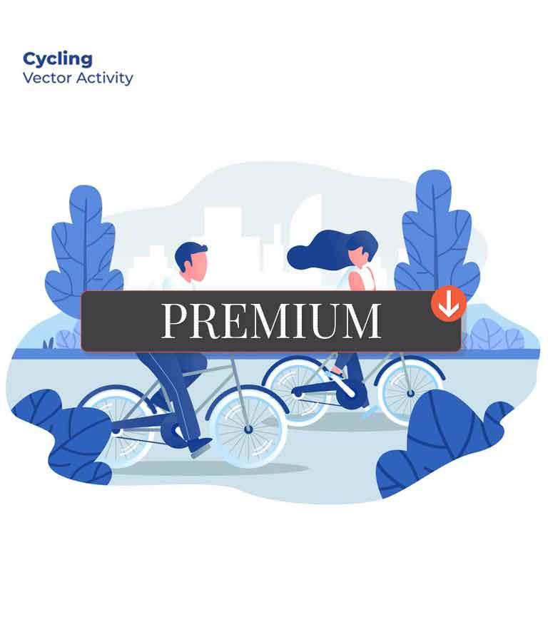 Cycling - Vector Illustration