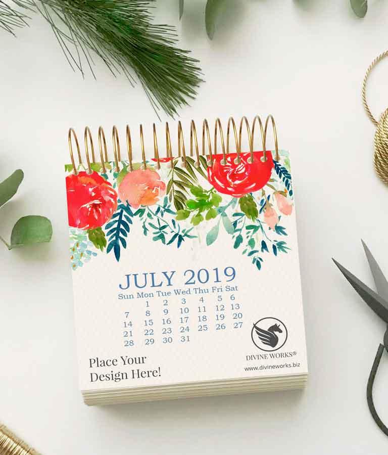 Free Calendar Mockup by Divine Works