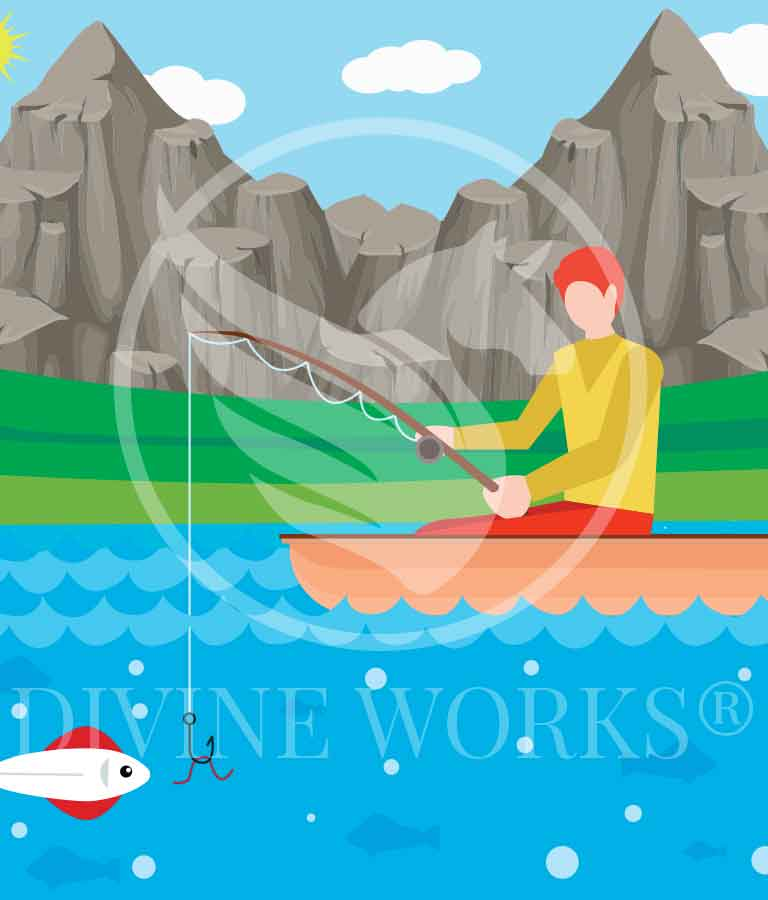 Free Adobe Illustrator Fisher Man Vector Illustration by Divine Works