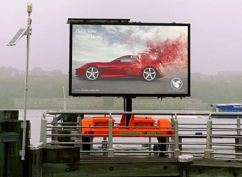 Free Outdoor Advertisement Billboard Mockup by Divine Works