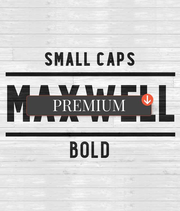Maxwell Sans Small Caps Bold