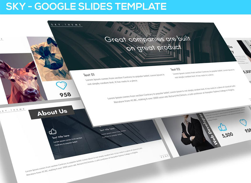 Sky - Multipurpose Google Slides Template