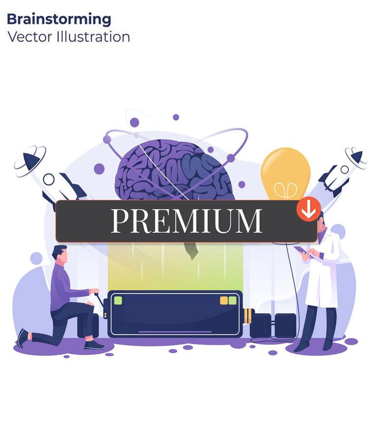 Brainstorming – Vector Illustration