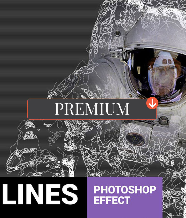Fibrum Lines Art Photoshop Action