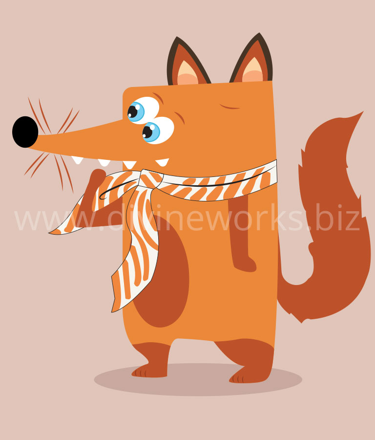 Free Fox Character Vector Illustration by Divine Works