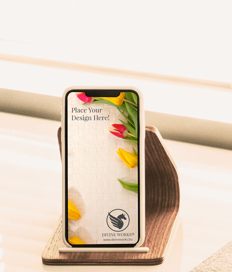 Free Docked iPhone XS Mockup by Divine Works