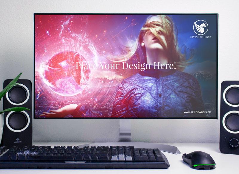 Free LCD Screen Display Mockup by Divine Works