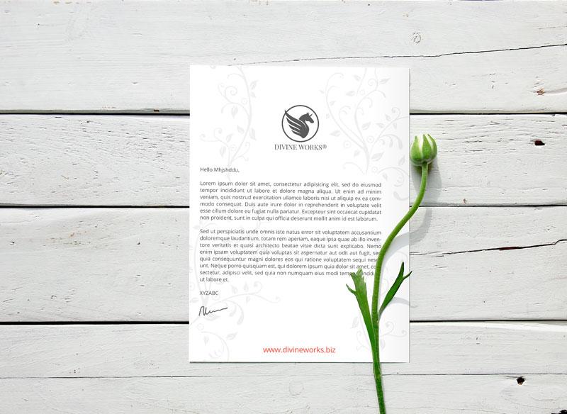 Free Letterhead Mockup by Divine Works