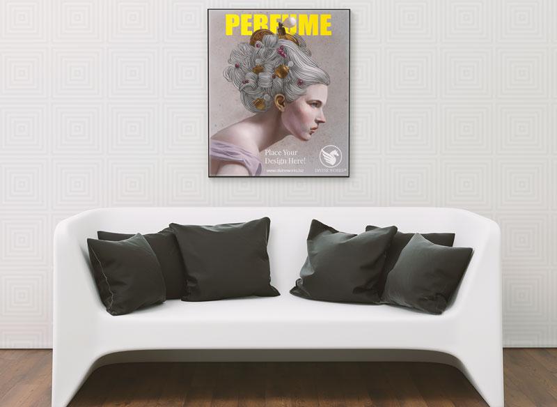 Free Living Room Frame Mockup byy Divine Works