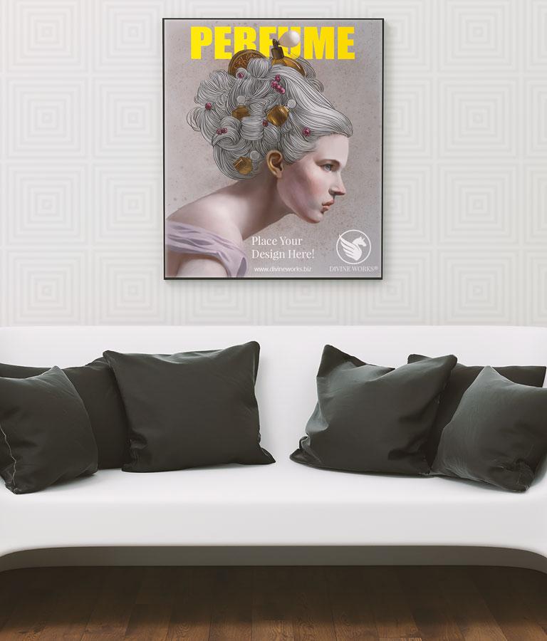 Free Living Room Frame Mockup