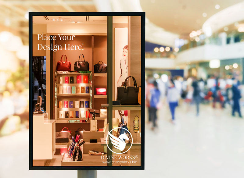 Free Mall Advertising Poster Mockup by Divine Works