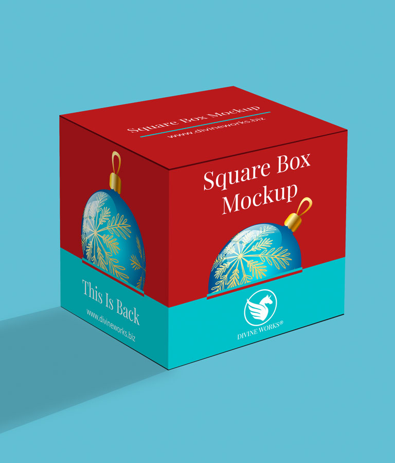 Free Square Box Mockup by Divine Works