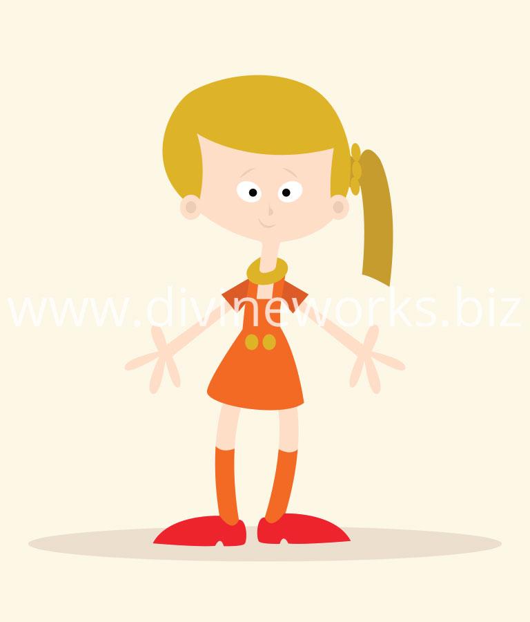 Free Adobe Illustrator Girl Character Vector Illustration by Divine Works