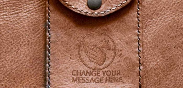 Free Leather Pouch Logo Mockup