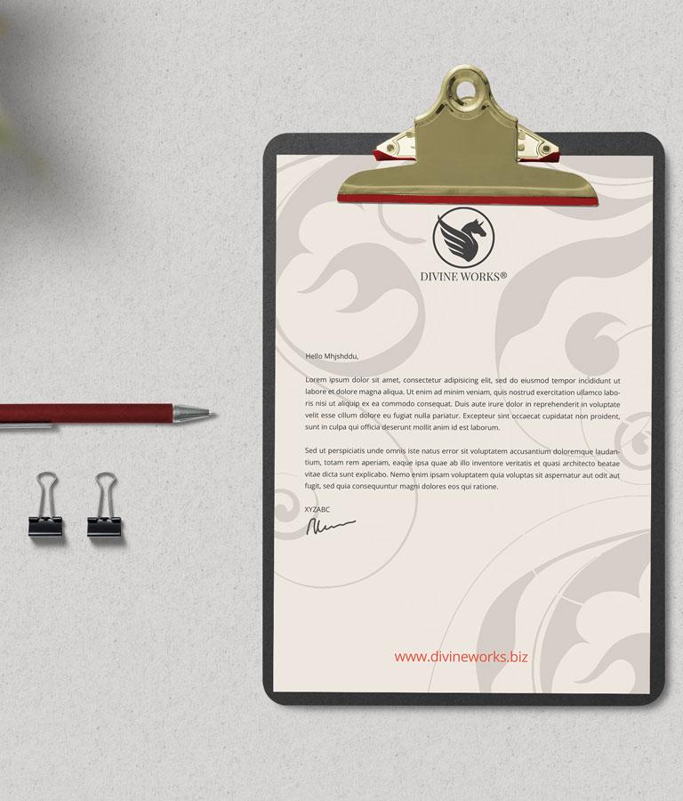 Free Clipboard Letterhead Mockup PSD