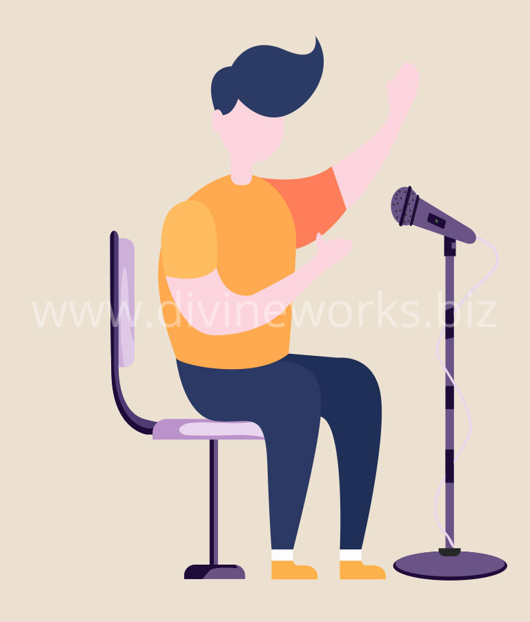 Download Free Man Singing Vector Art by Divine Works