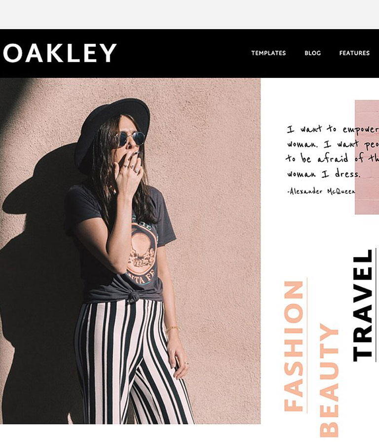 Oakley A Blog & Shop Theme