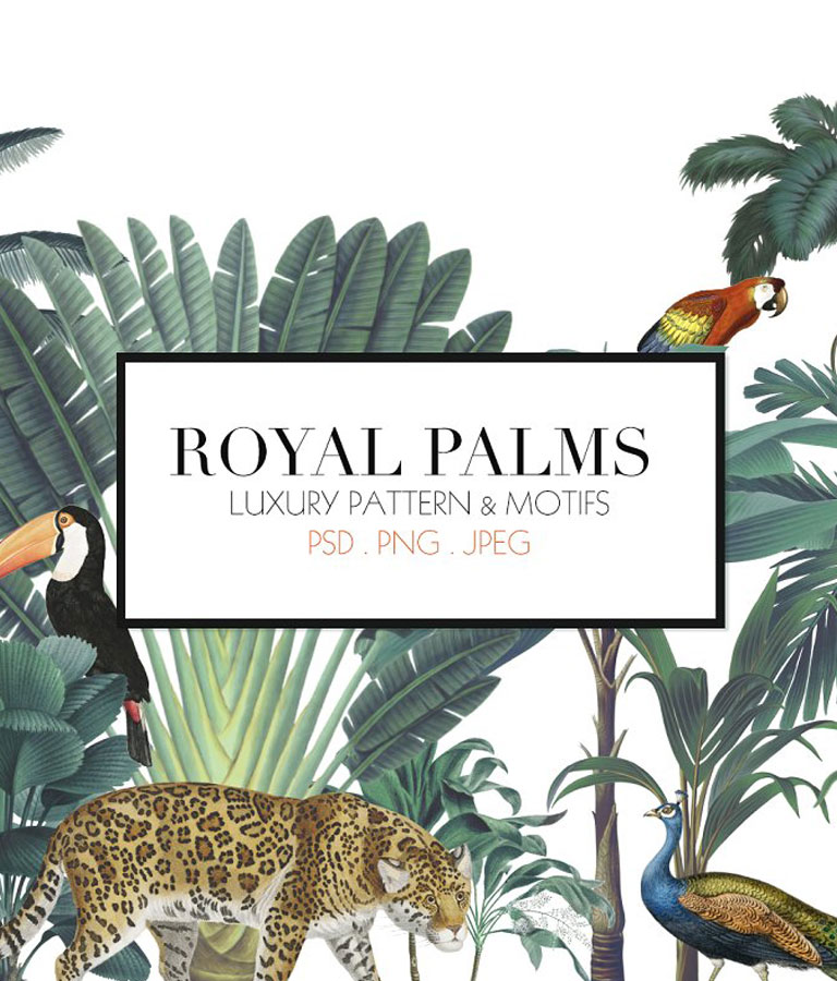 Royal Palms Luxury Print