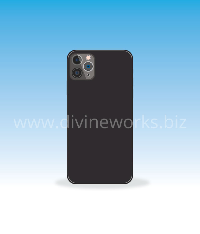 Download Free iPhone 11 Back Vector Art by Divine Works