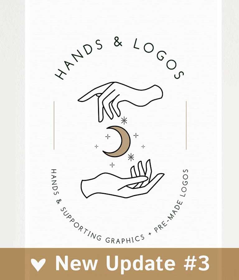 18 Hands & Logo Templates