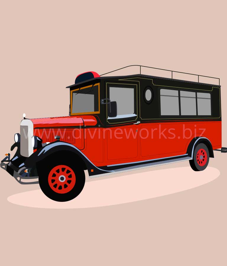 Download Free Antique Car Vector by Divine Works