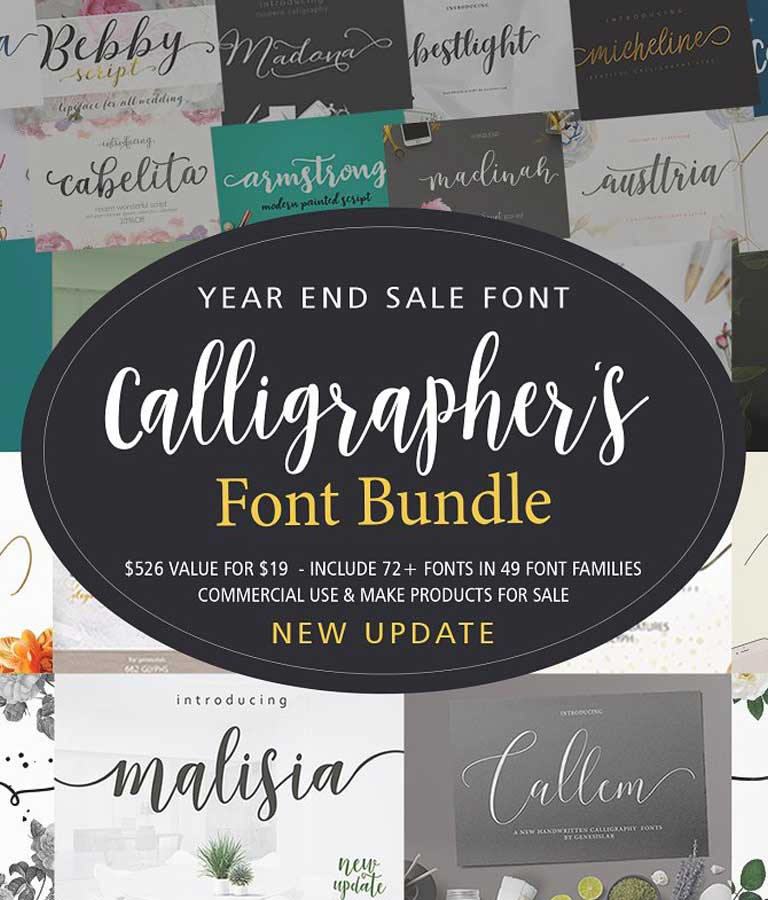 Calligrapher's Font Bundle (98%Off)