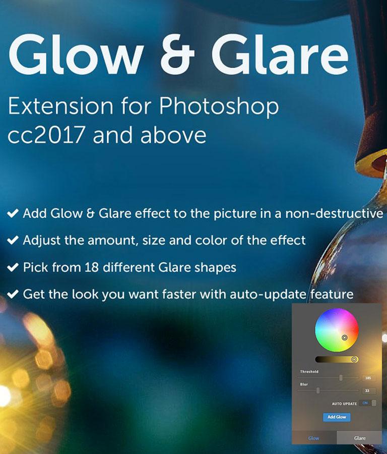 Glow & Glare Photoshop Extension