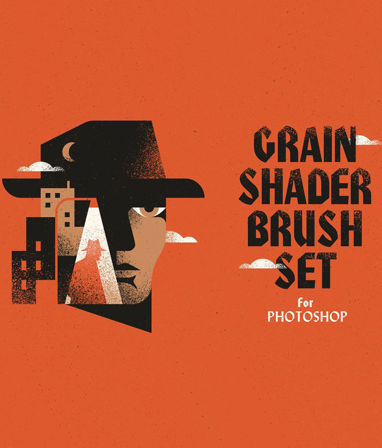 Grain Shader Brush Set for Photoshop