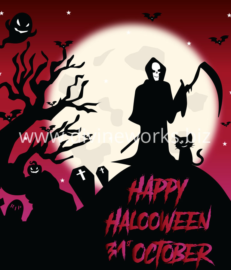 Download Free Happy Halloween Scary Vector by Divine Works