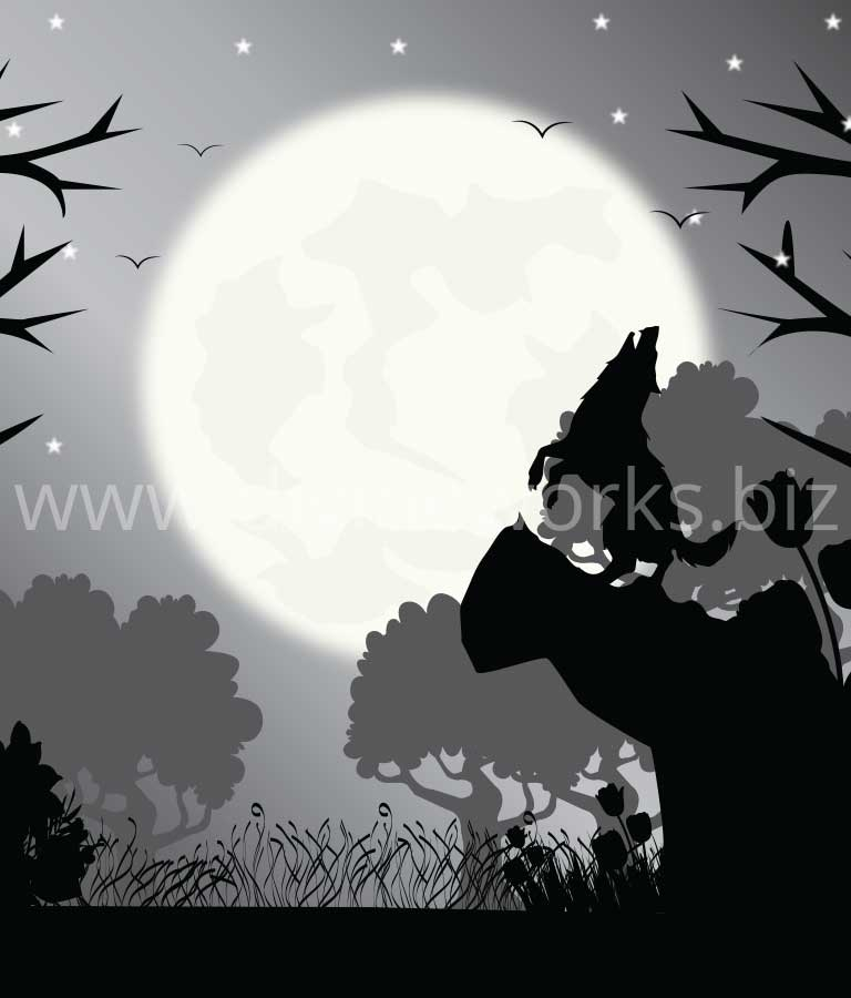 Download Free Wolf Howling Vector Illustration by Divine Works