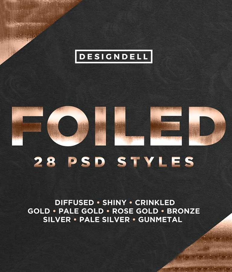 Foiled Photoshop Styles