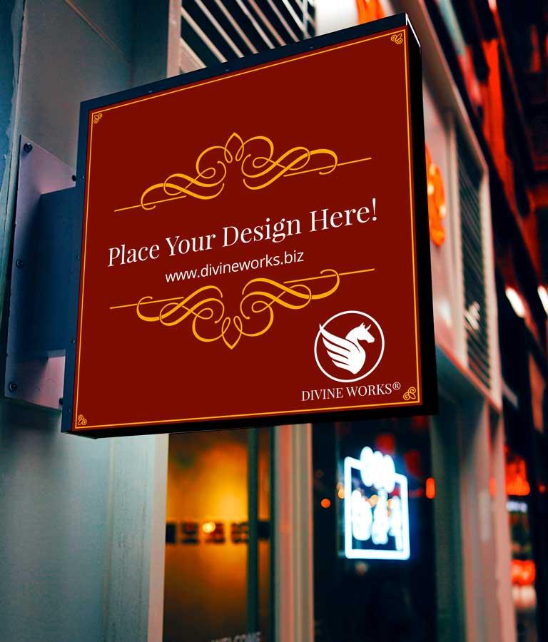 Download Free Hanging Shop Signage Mockup by Divine Works