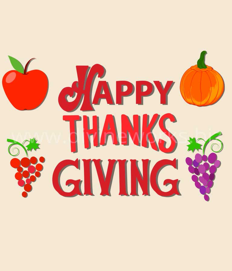 Download Free Happy Thanksgiving Art Illustration by Divine Works