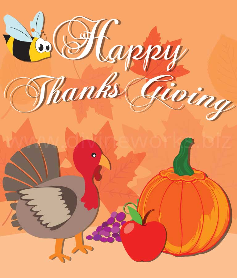 Download Free Happy Thanksgiving Illustration by Divine Works