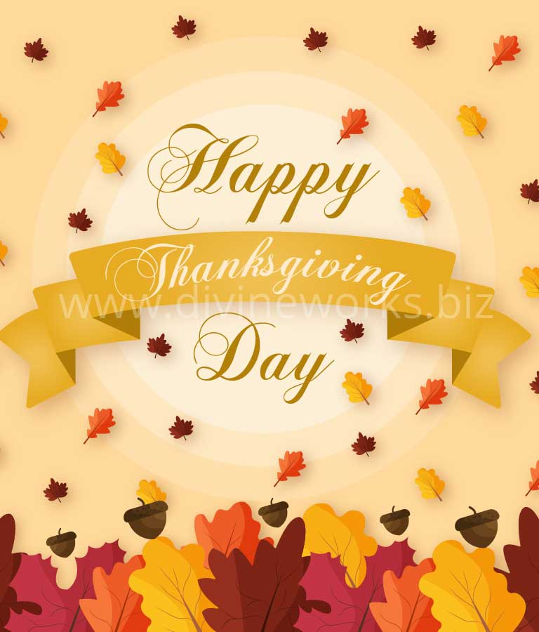 Download Free Happy Thanksgiving Vector Art by Divine Works