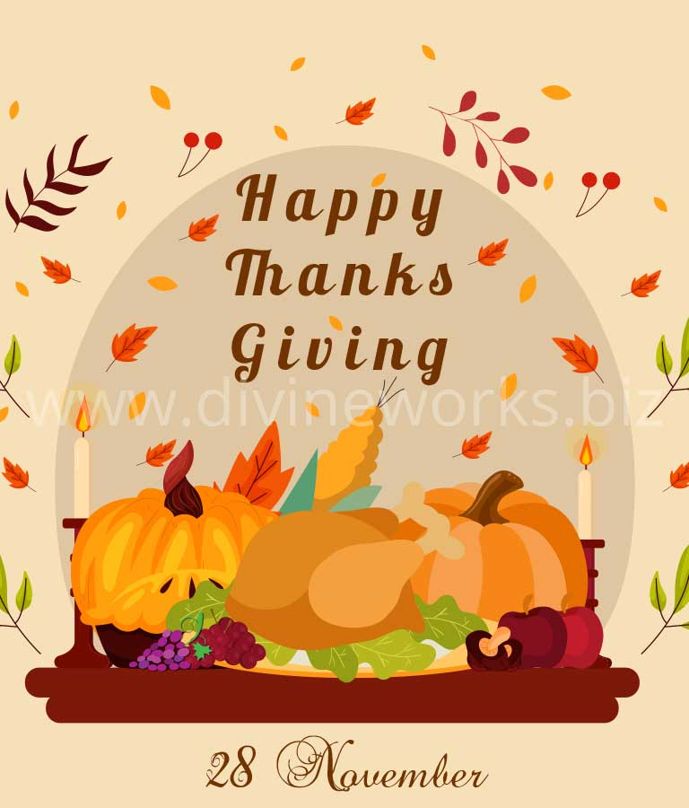 Download Free Happy Thanksgiving Vector Illustration by Divine Works
