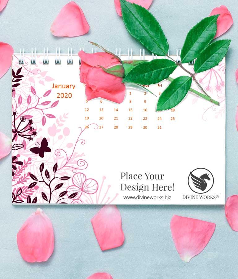 Download Free Modern Calendar Mockup by Divine Works