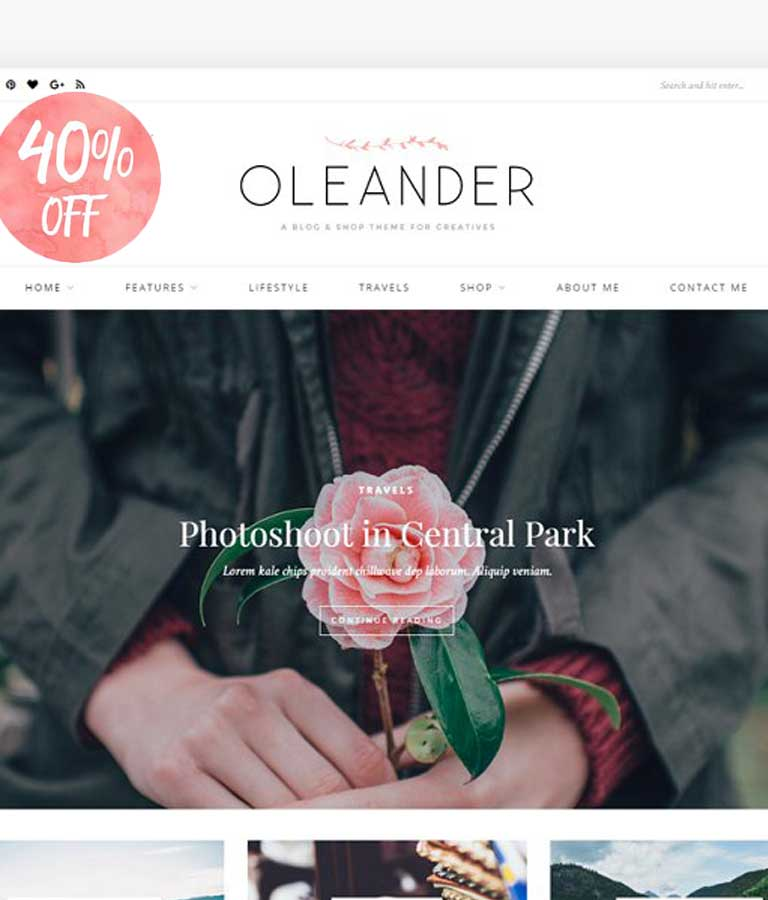 Oleander A Blog & Shop Theme